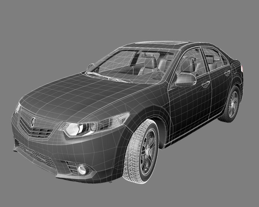 Acura TSX Sedan 2014 royalty-free 3d model - Preview no. 7