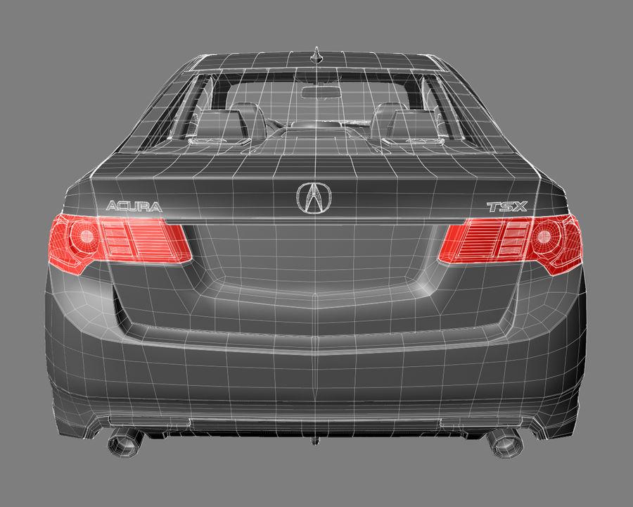 Acura TSX Sedan 2014 royalty-free 3d model - Preview no. 12
