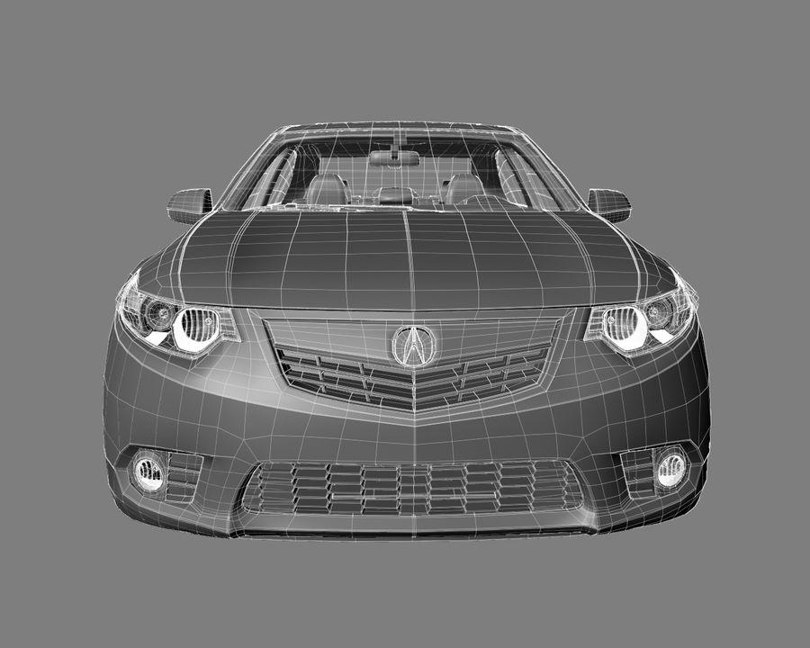 Acura TSX Sedan 2014 royalty-free 3d model - Preview no. 8