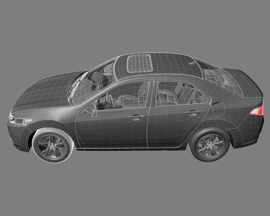 Acura TSX Sedan 2014 royalty-free 3d model - Preview no. 9