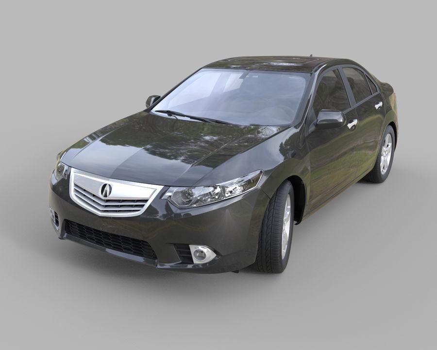 Acura TSX Sedan 2014 royalty-free 3d model - Preview no. 1