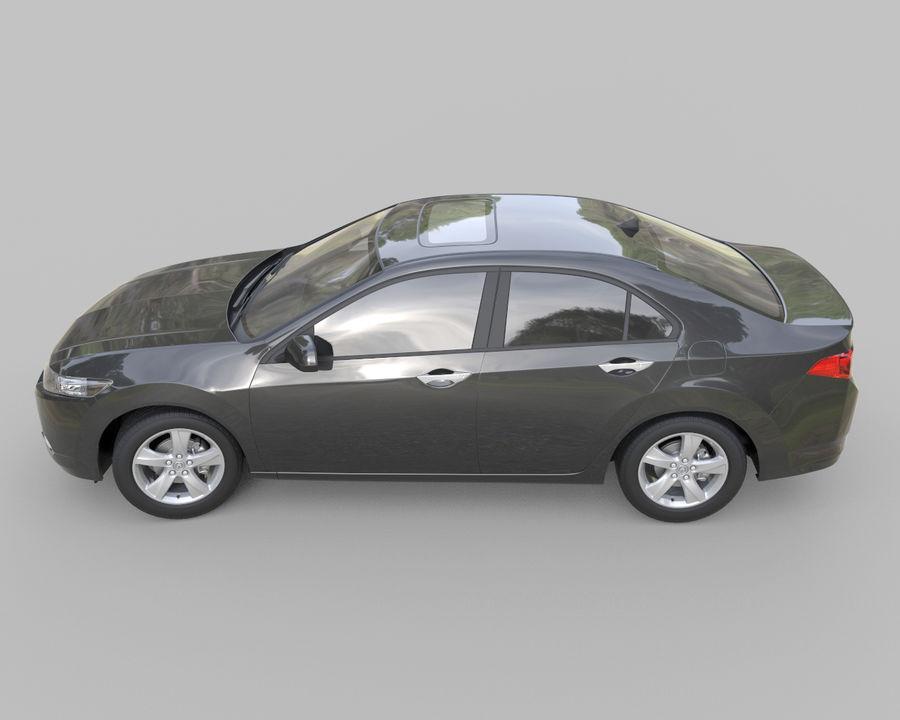 Acura TSX Sedan 2014 royalty-free 3d model - Preview no. 2