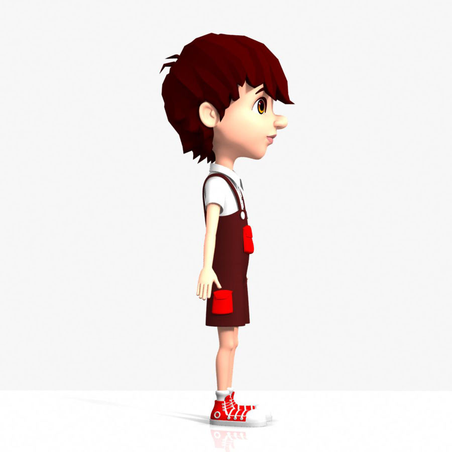 cartoon_boy royalty-free 3d model - Preview no. 3