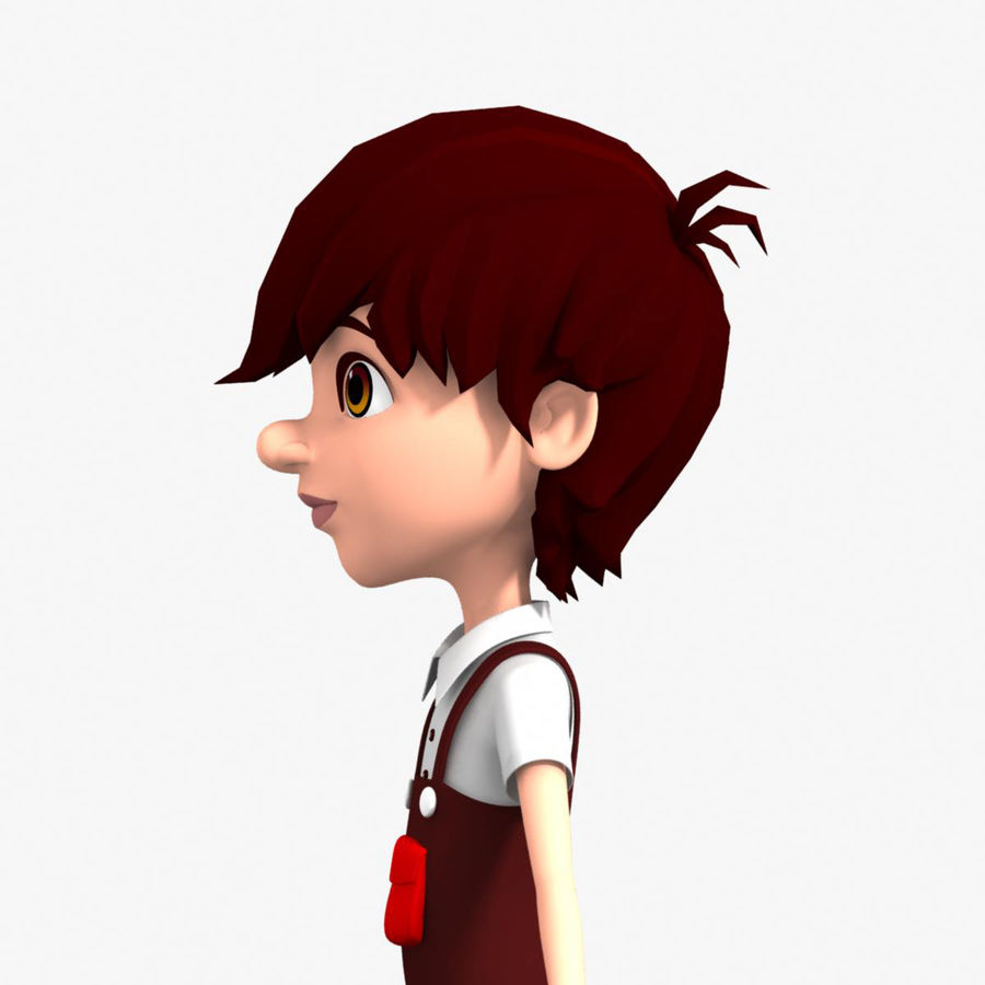 cartoon_boy royalty-free 3d model - Preview no. 6