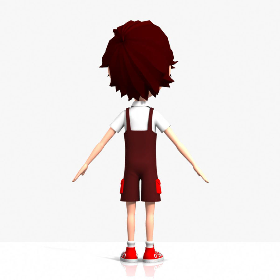 cartoon_boy royalty-free 3d model - Preview no. 4