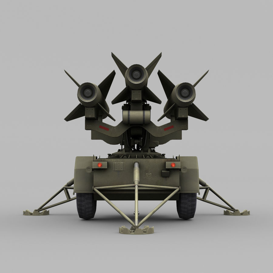 Hawk Missile Launcher royalty-free 3d model - Preview no. 8