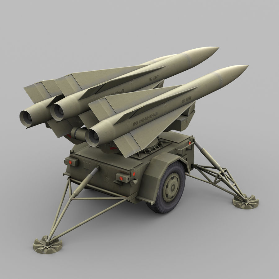 Hawk Missile Launcher royalty-free 3d model - Preview no. 4