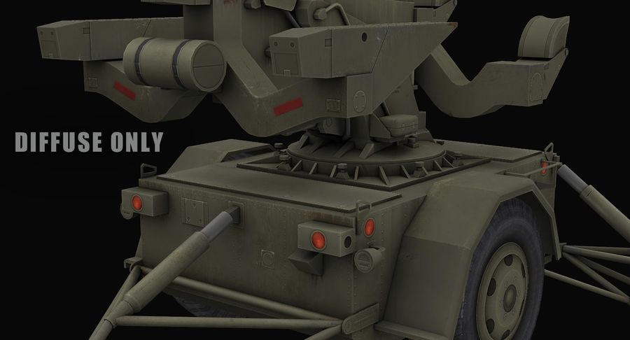Hawk Missile Launcher royalty-free 3d model - Preview no. 13
