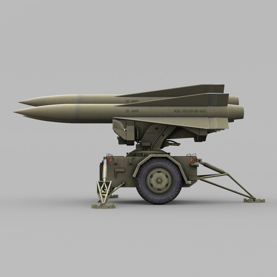 Hawk Missile Launcher royalty-free 3d model - Preview no. 7