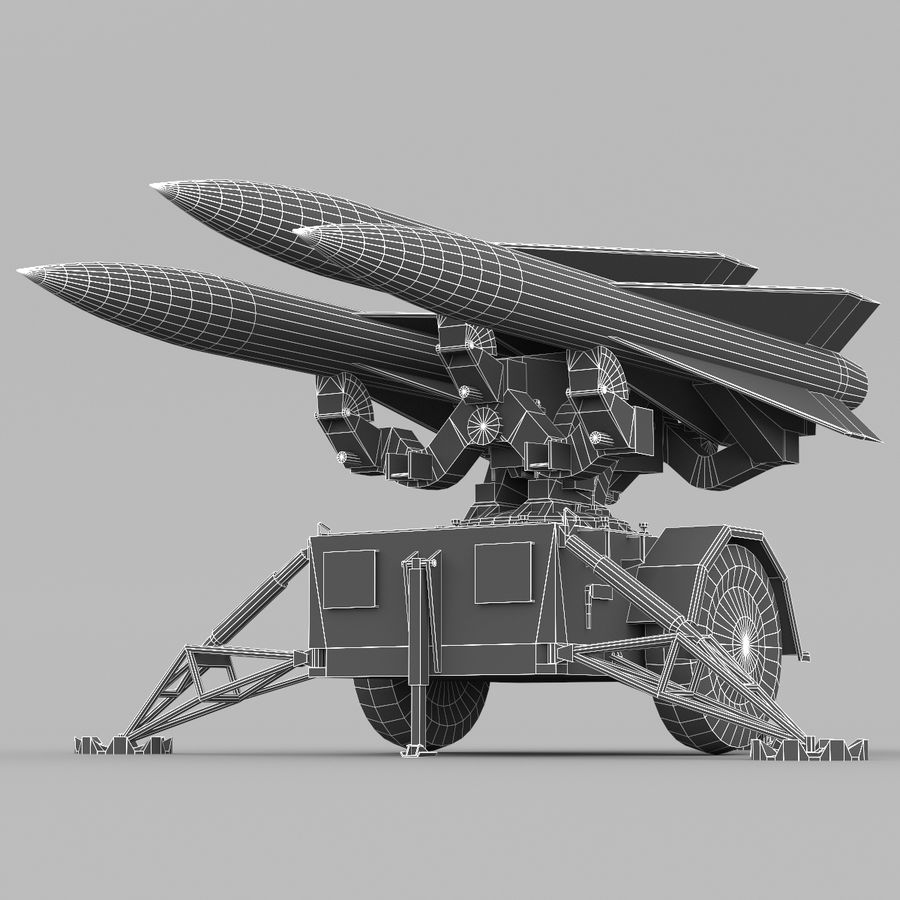Hawk Missile Launcher royalty-free 3d model - Preview no. 3