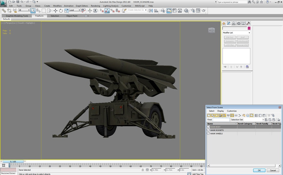 Hawk Missile Launcher royalty-free 3d model - Preview no. 14