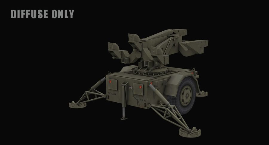 Hawk Missile Launcher royalty-free 3d model - Preview no. 12