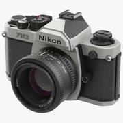 35mm 필름 카메라 Nikon FM2 3d model