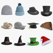 Kolekcja czapek 3d model