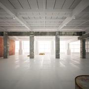 Интерьер промышленного склада 3d model