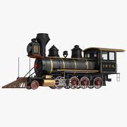 Steam Train Locomotive 3 3D Model 3d model