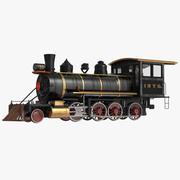 Steam Train Locomotive 4 3D Model 3d model
