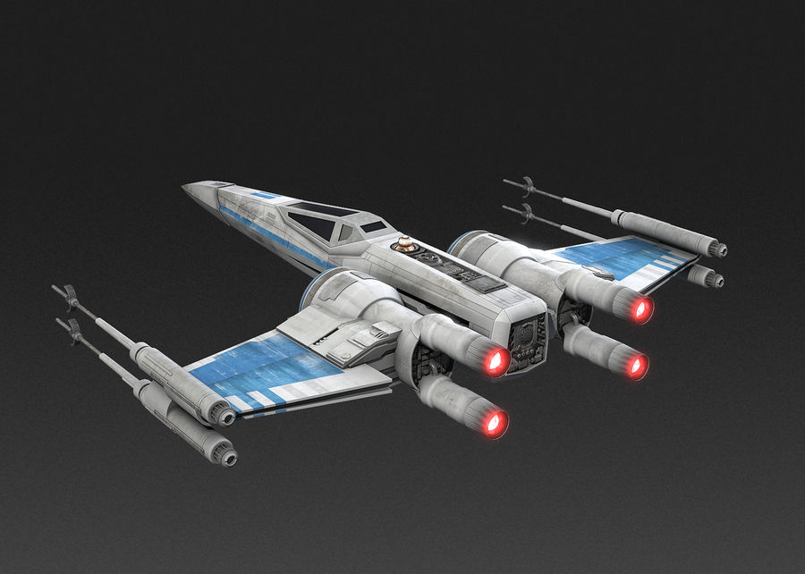 X-wing Fighter Star Wars royalty-free 3d model - Preview no. 9
