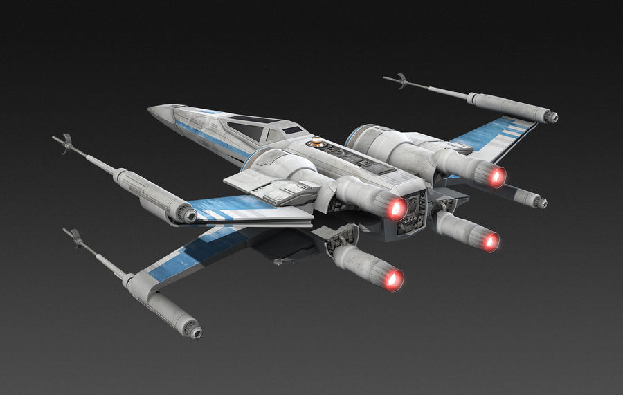 X-wing Fighter Star Wars royalty-free 3d model - Preview no. 6