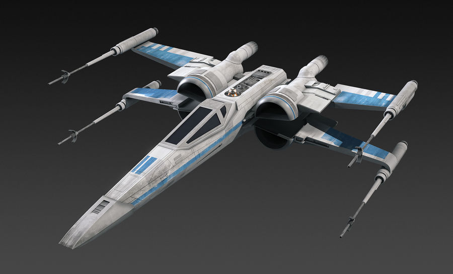 X-wing Fighter Star Wars royalty-free 3d model - Preview no. 1