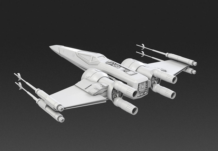 X-wing Fighter Star Wars royalty-free 3d model - Preview no. 13