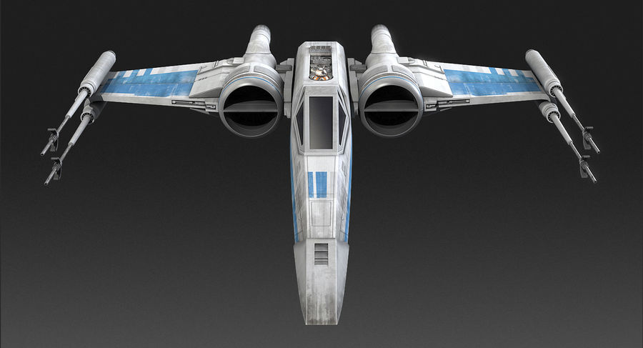 X-wing Fighter Star Wars royalty-free 3d model - Preview no. 8