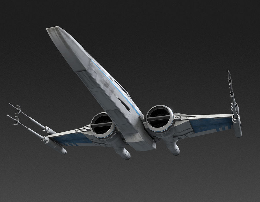 X-wing Fighter Star Wars royalty-free 3d model - Preview no. 10