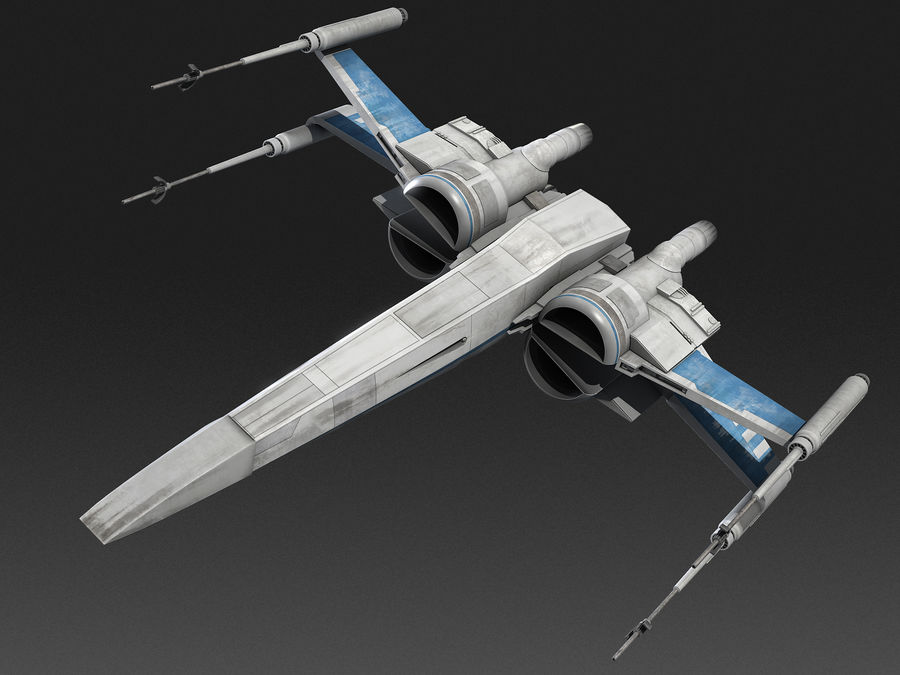 X-wing Fighter Star Wars royalty-free 3d model - Preview no. 11