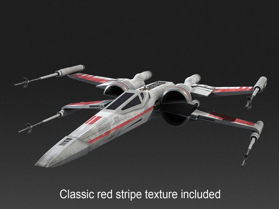 X-wing Fighter Star Wars royalty-free 3d model - Preview no. 4