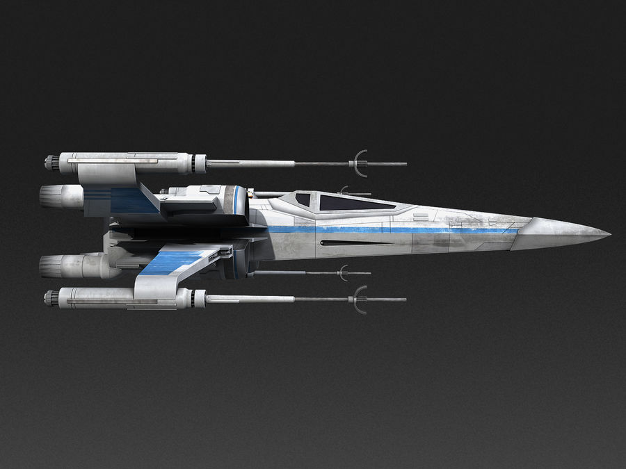 X-wing Fighter Star Wars royalty-free 3d model - Preview no. 5