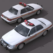 Samochód szeryfa 3d model