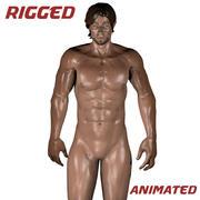 근육질의 남성 3d model