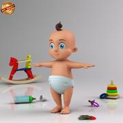 Bebê infantil dos desenhos animados 3d model