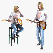 Kurt Cobain riggade 3d model