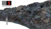 Vulkanische klif 16K 3d model