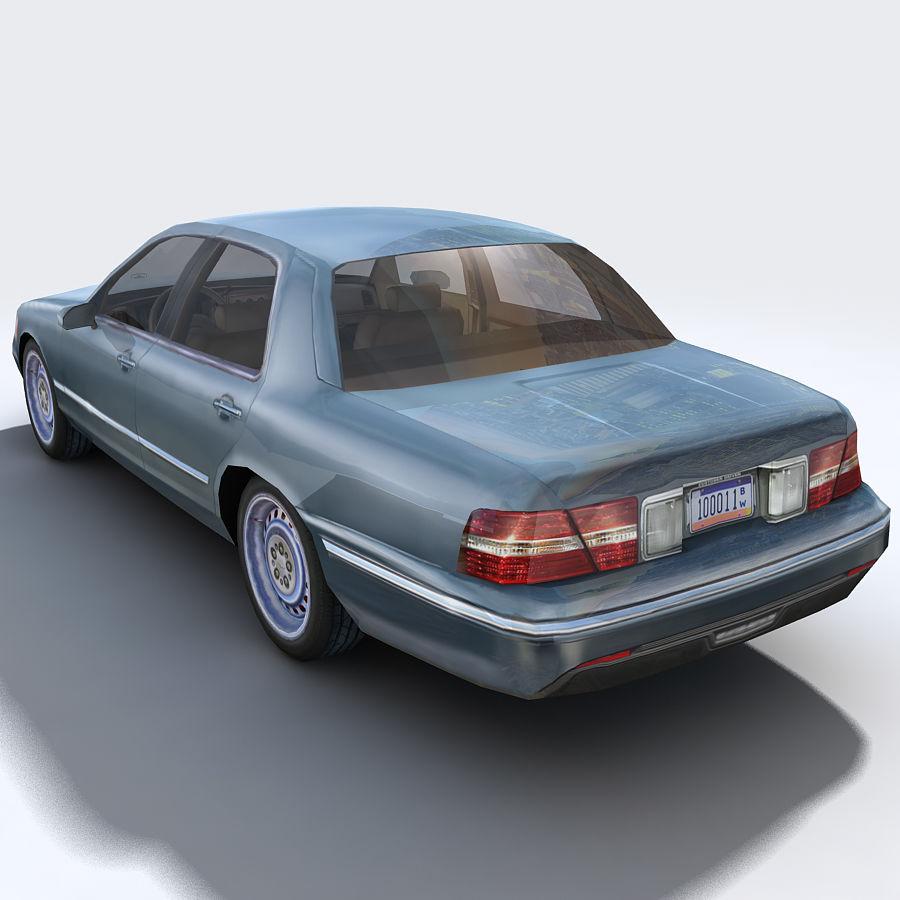 Sedan Car royalty-free 3d model - Preview no. 12