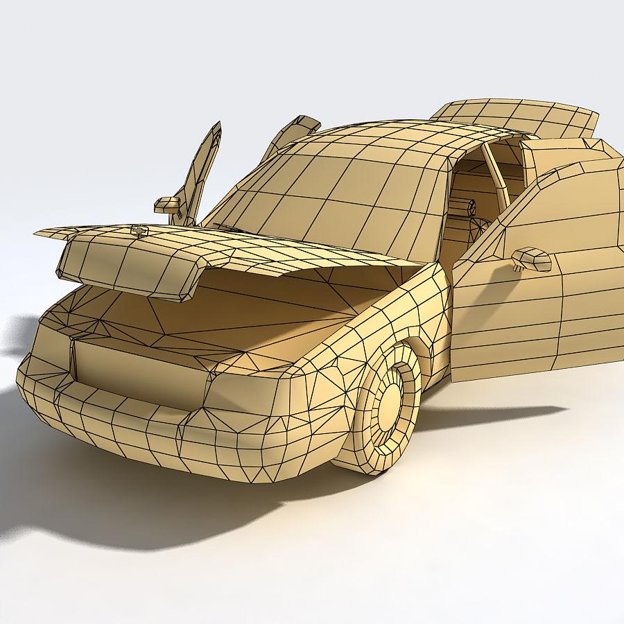 Sedan Car royalty-free 3d model - Preview no. 3