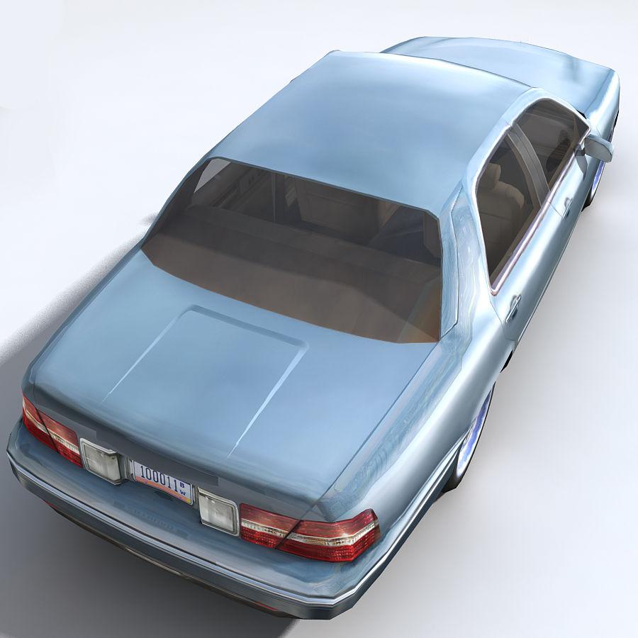 Sedan Car royalty-free 3d model - Preview no. 11