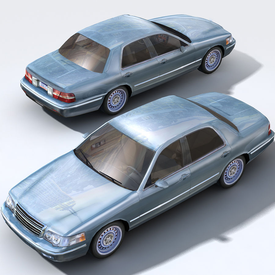 Sedan Car royalty-free 3d model - Preview no. 6
