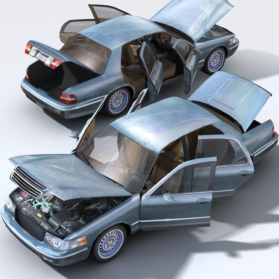 Sedan Car royalty-free 3d model - Preview no. 7