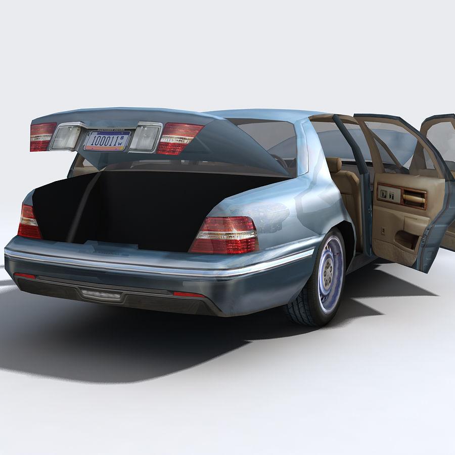 Sedan Car royalty-free 3d model - Preview no. 8