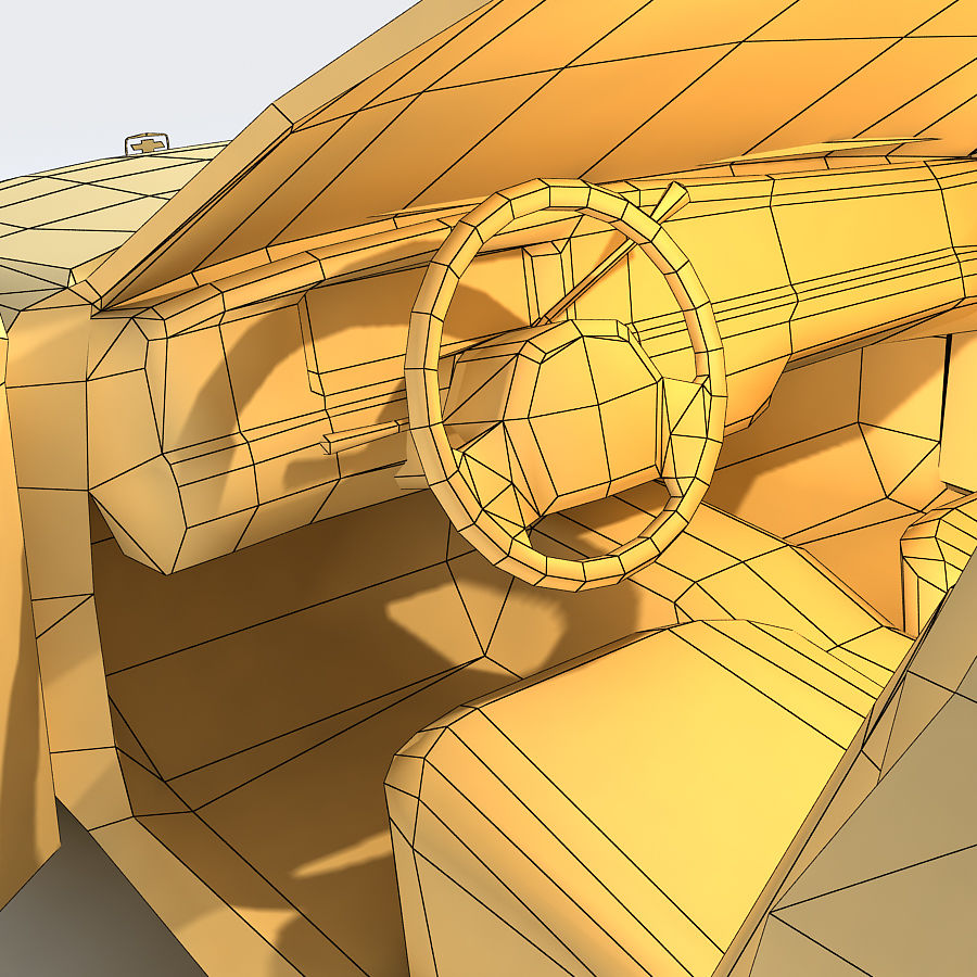Sedan Car royalty-free 3d model - Preview no. 16