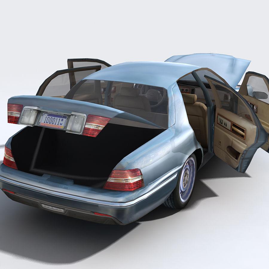 Sedan Car royalty-free 3d model - Preview no. 4