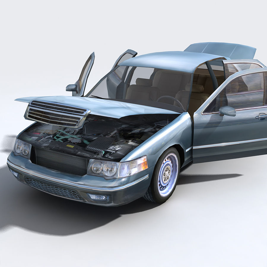 Sedan Car royalty-free 3d model - Preview no. 2