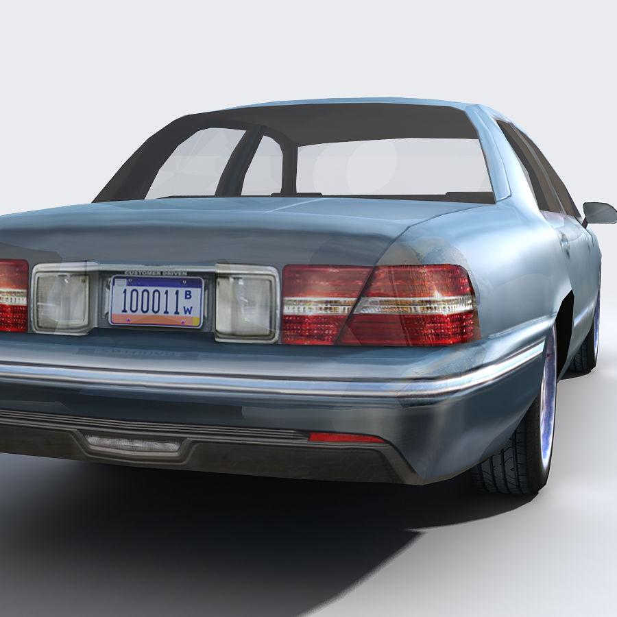 Sedan Car royalty-free 3d model - Preview no. 10