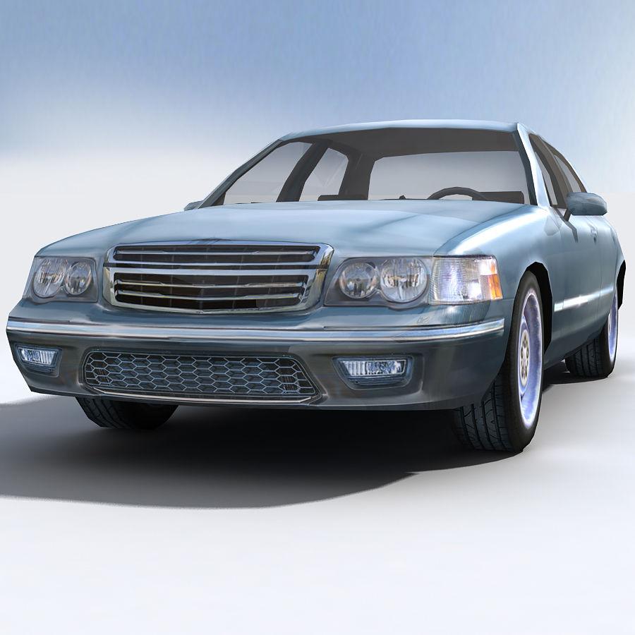 Sedan Car royalty-free 3d model - Preview no. 5