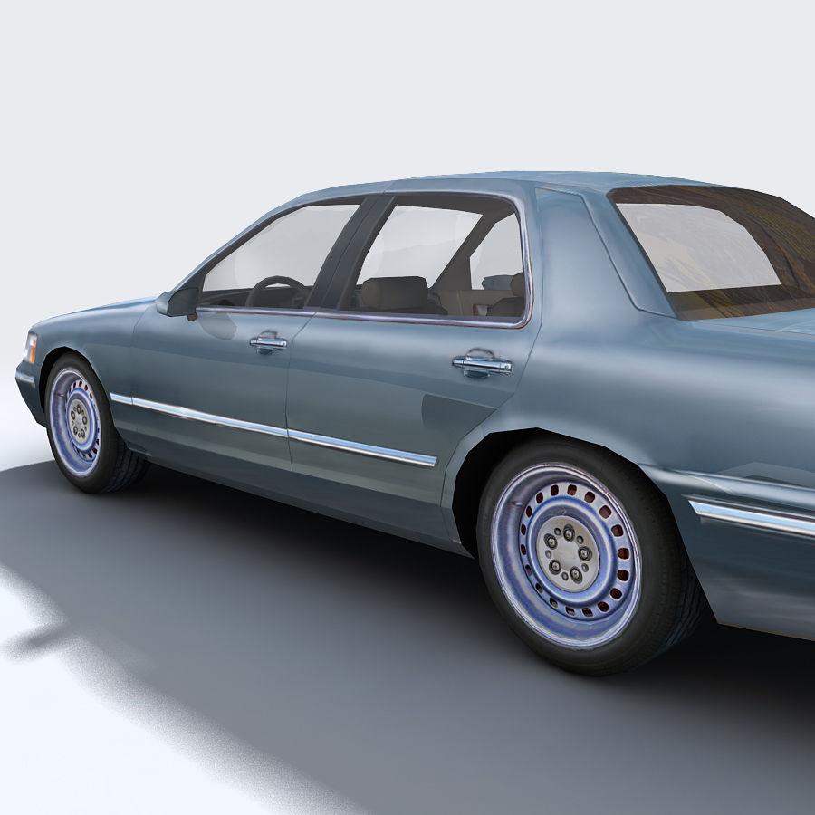 Sedan Car royalty-free 3d model - Preview no. 13