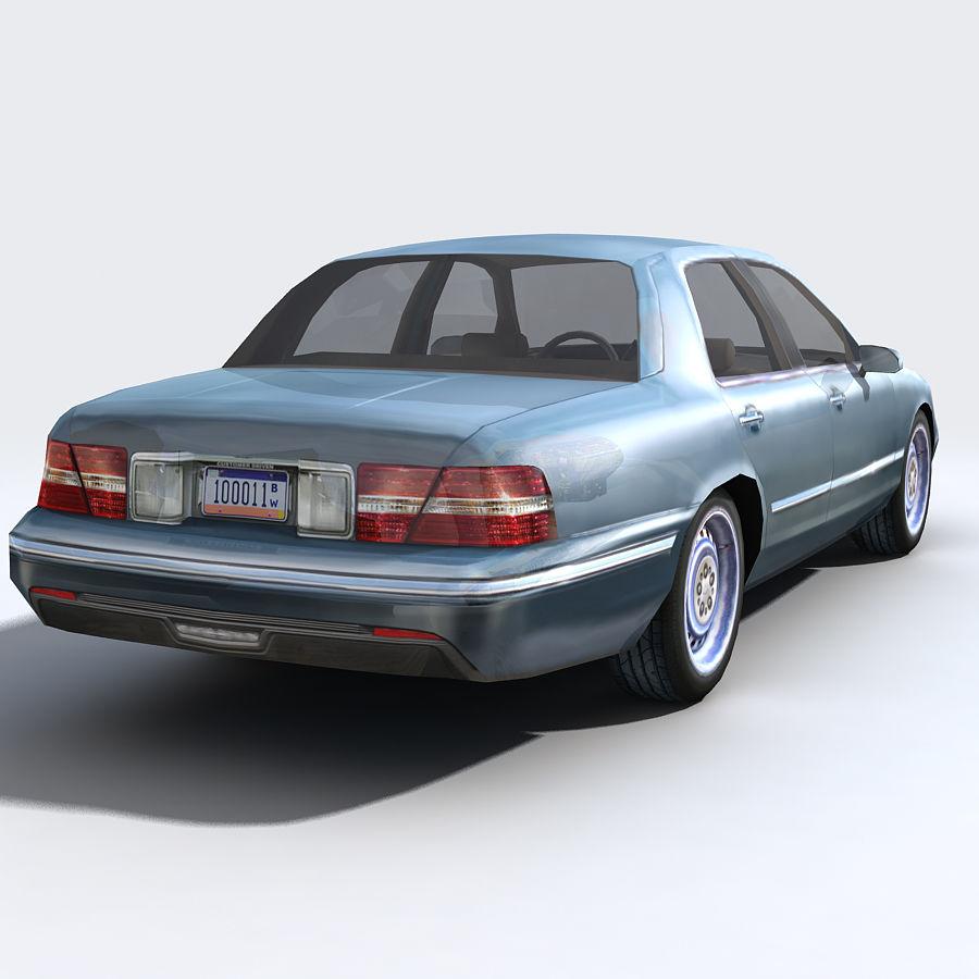 Sedan Car royalty-free 3d model - Preview no. 9