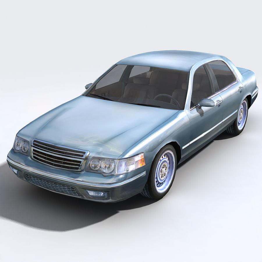 Sedan Car royalty-free 3d model - Preview no. 1