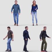 3D Human Model Vol. 2 Casual Walking People 3d model